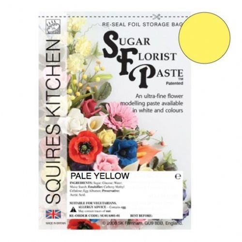 Sugar Florist Paste - Pale Yellow 200g.